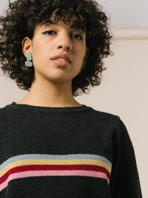 Jersey negro mujer 100% sostenible