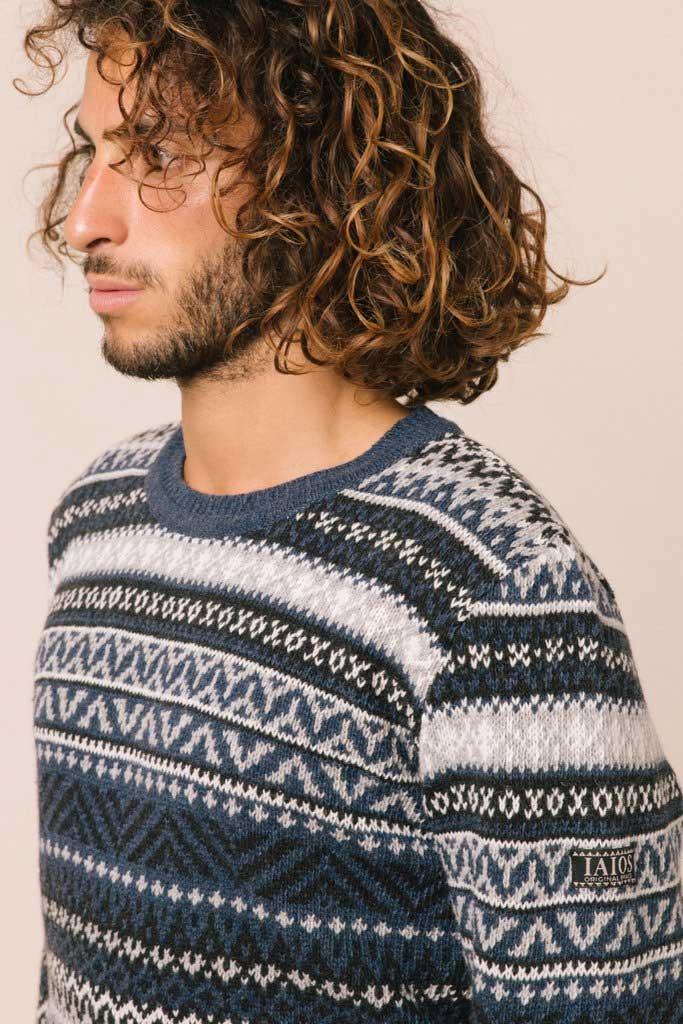 Jersey sostenible lana hombre
