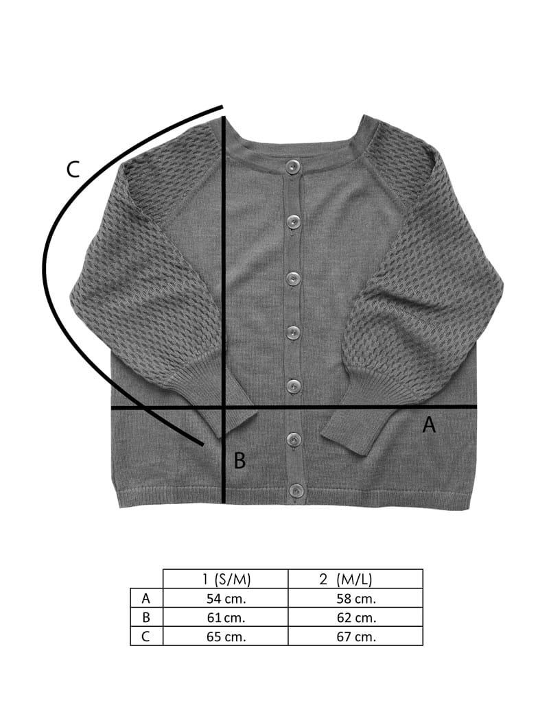 Medidas chaqueta reversible mujer manga globo