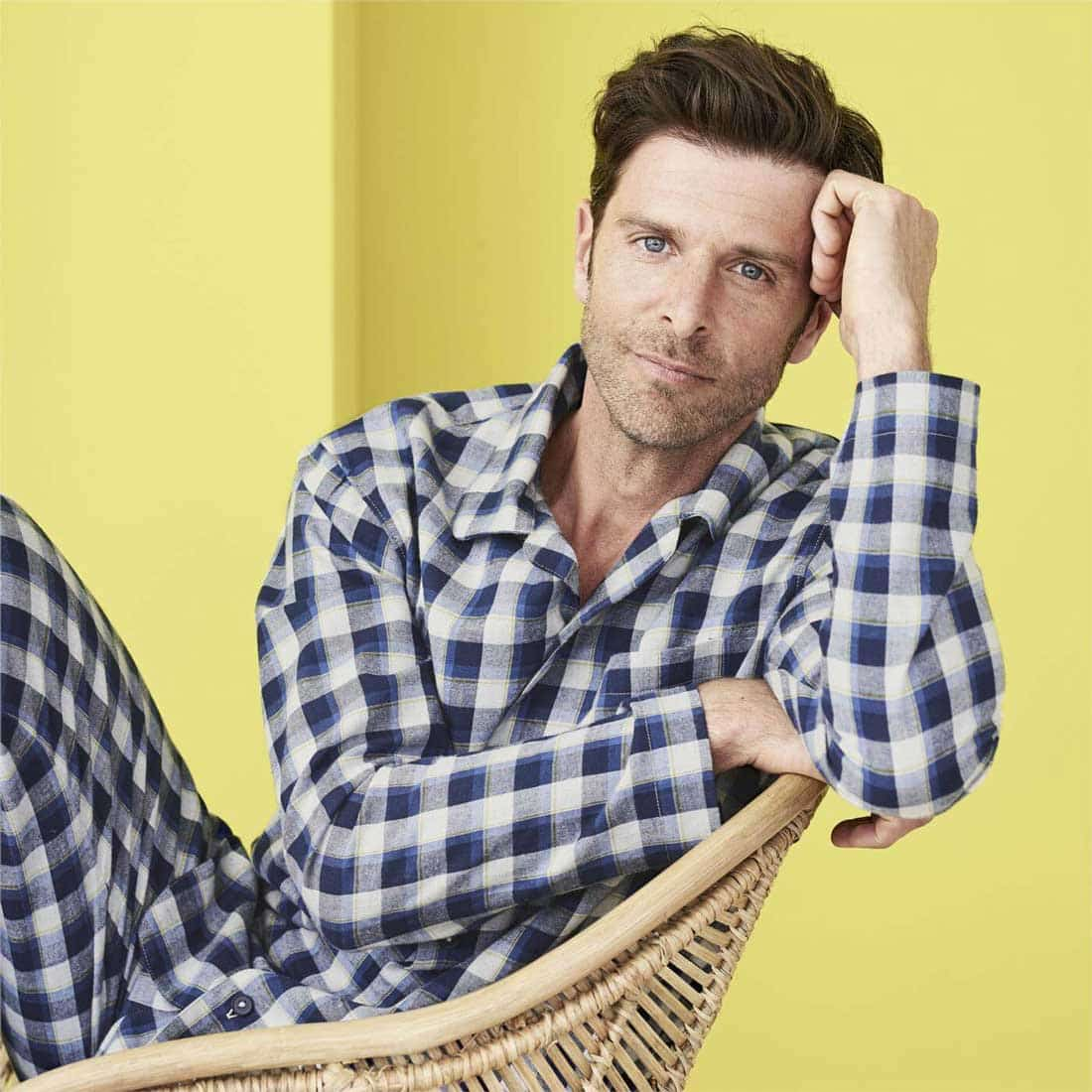 Pijama cuadros escoceses ecológico para hombre