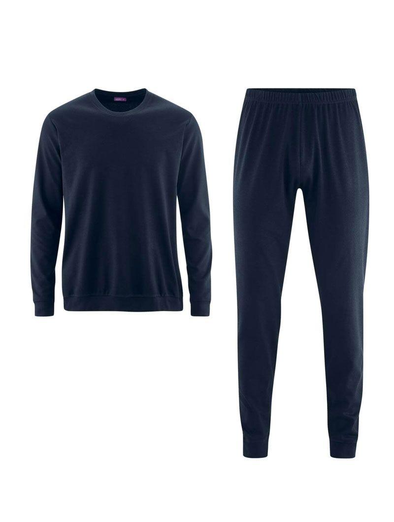 Pijama hombre invierno azul