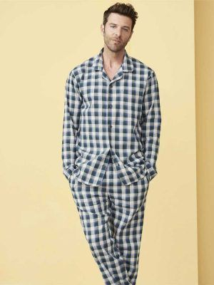 Pijama invierno hombre de cuadros ecológico