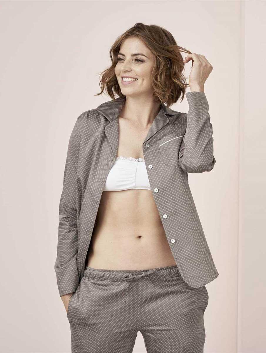 Pijama satén mujer de algodón orgánico