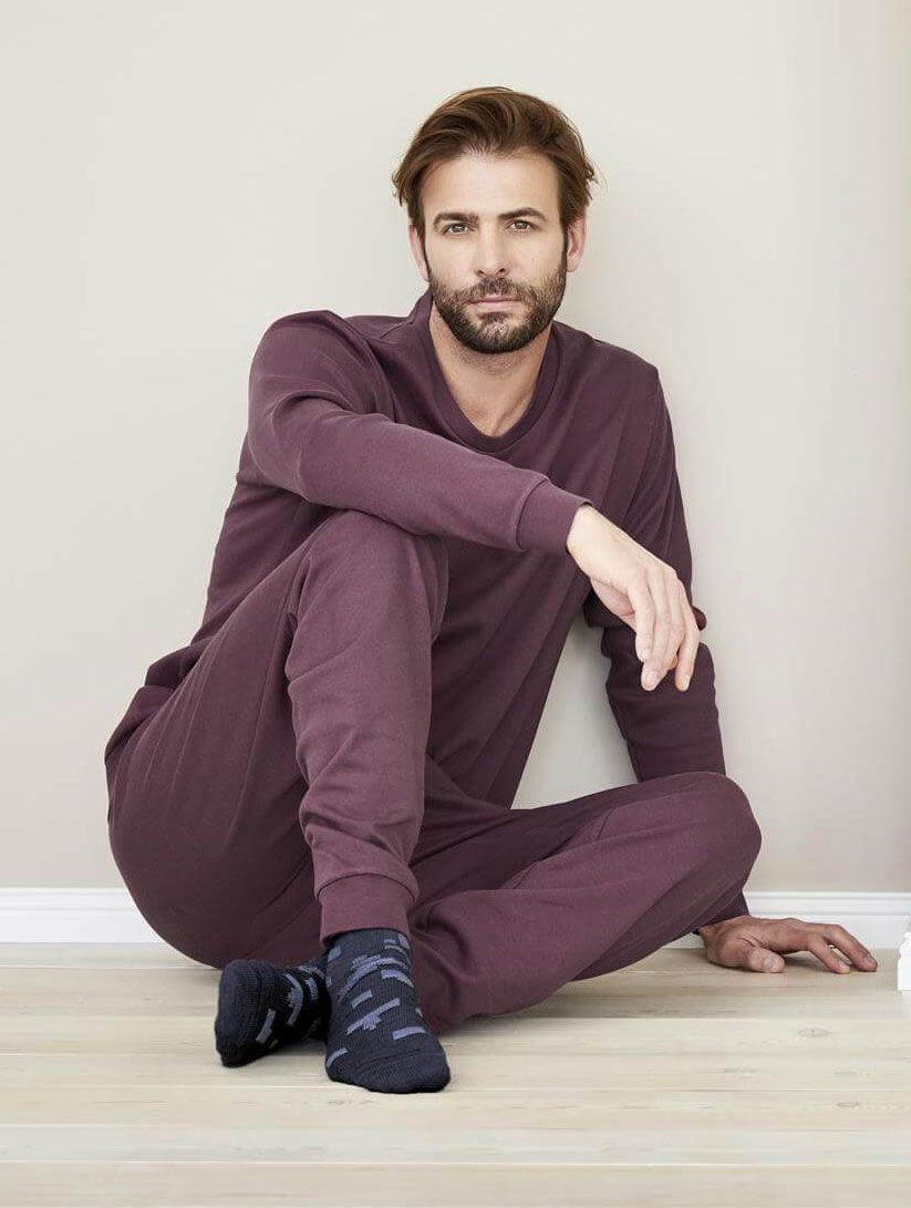 Pijamas hombre de invierno ecológicos