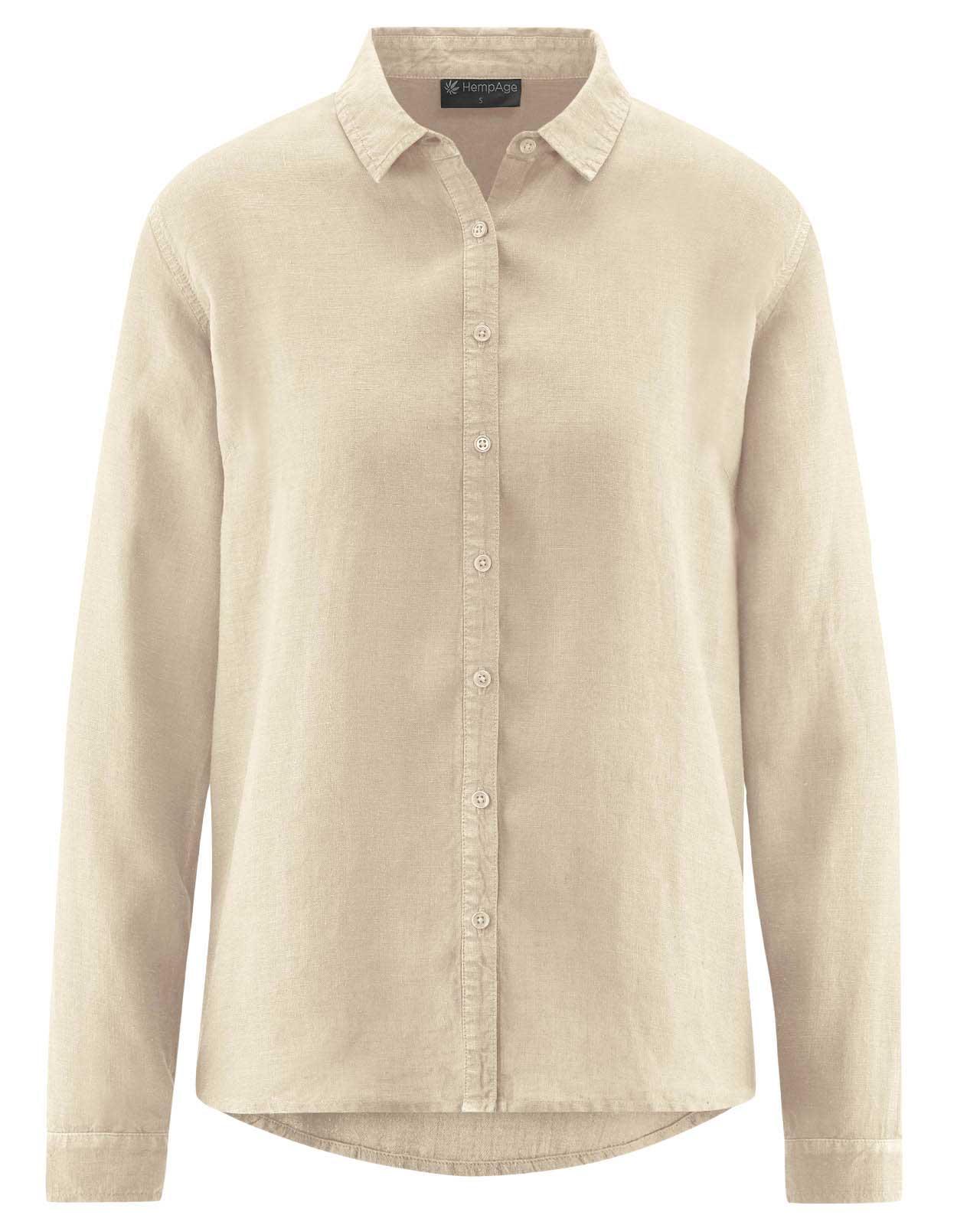 Blusa mujer de cáñamo 100% ecológica beige