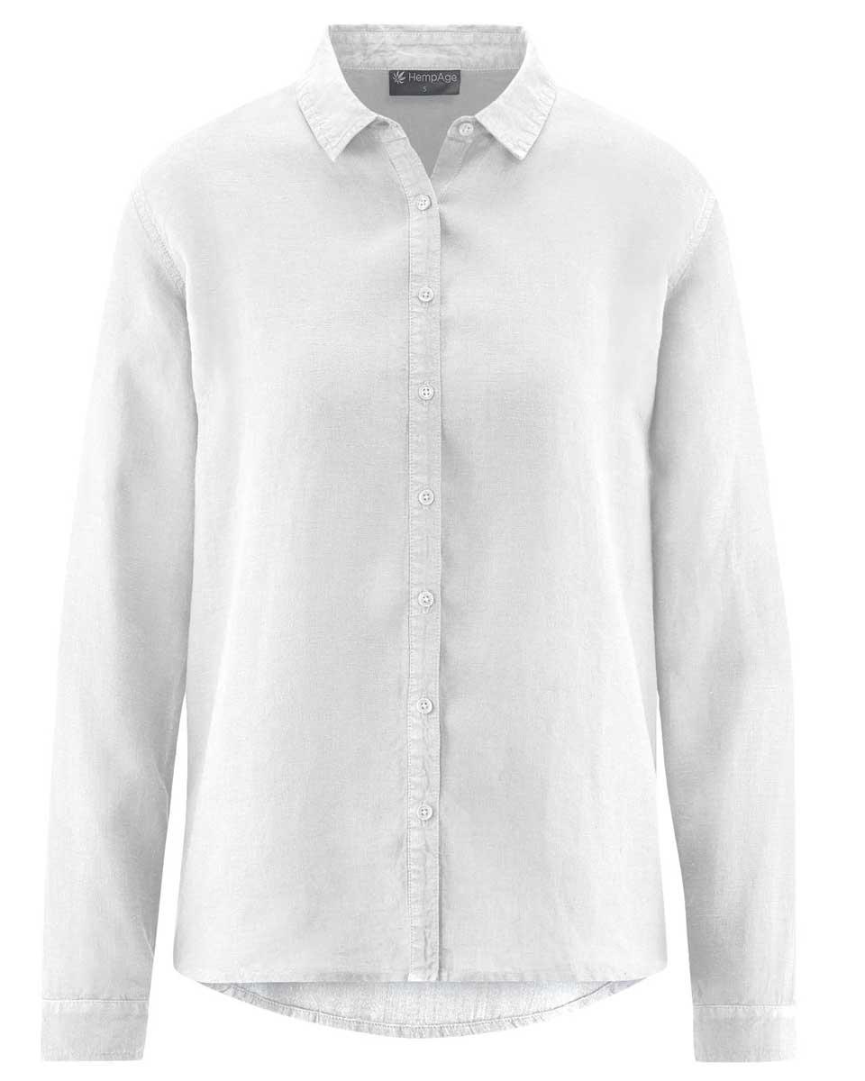 Blusa mujer de cáñamo 100% ecológica blanco