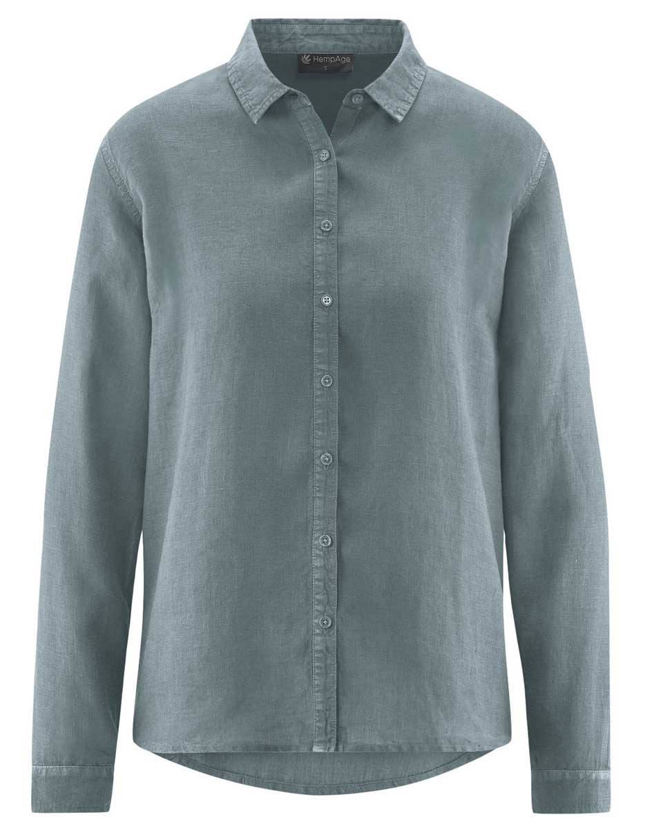 Blusa mujer de cáñamo 100% ecológica gris