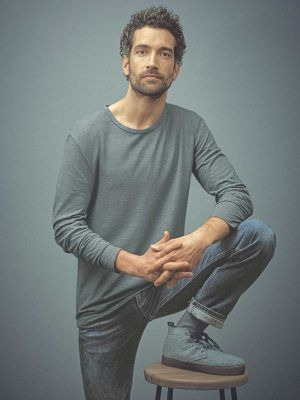 Camiseta lisa manga larga hombre 100% ecológica